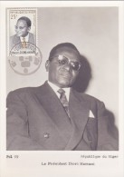 NIGER Carte Maximum - Président - Niger (1960-...)