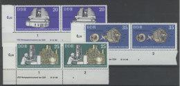 Lot DDR Michel No. 2062 , 2063 , 2064 ** postfrisch DV Druckvermerk / 2064 oben angetrennt