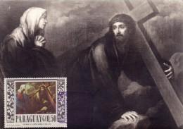 PARAGUAY Carte Maximum - Jésus Rencontre Sa Mère - Paraguay