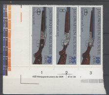 DDR Michel No. 2377 , 2379 , 2381 W Zd 175 L ** postfrisch DV Druckvermerk