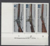 DDR Michel No. 2376 , 2378 , 2380 W Zd 169 ** postfrisch DV Druckvermerk