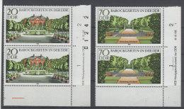 Lot DDR Michel No. 2487 , 2489 ** postfrisch DV Druckvermerk