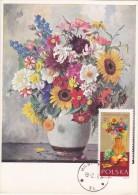 POLOGNE Carte Maximum - Fleurs,Fruits,Légumes - Maximumkarten