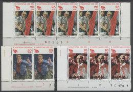 Lot DDR Michel No. 2595 , 2596 , 2597 ** postfrisch DV Druckvermerk
