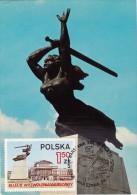 POLOGNE Carte Maximum - Monument De Nike - Maximumkarten