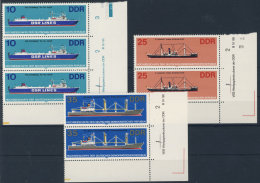 Lot DDR Michel No. 2710 , 2713 , 2714  ** postfrisch DV Druckvermerk