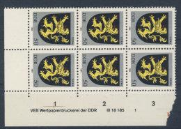 DDR Michel No. 2857 ** postfrisch DV Druckvermerk / senkrecht gefaltet