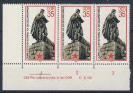 DDR Michel No. 2939 ** postfrisch DV Druckvermerk