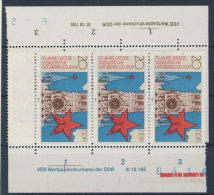 Lot DDR Michel No. 3130 , 3131 ** postfrisch DV Druckvermerk