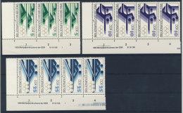 Lot DDR Michel No. 3183 , 3184 , 3186 ** postfrisch DV Druckvermerk / 3183 senkrecht gefaltet