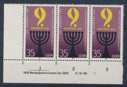 DDR Michel No. 3208 ** postfrisch DV Druckvermerk