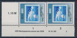DDR Michel No. 3331 ** postfrisch DV Druckvermerk
