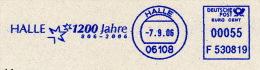 Freistempel 5619 Halle 1200 Jahre 806 - 2006 - BRD