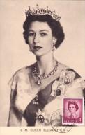 SAINTE LUCIE Carte Maximum - Reine Elizabeth II - St.Lucia (1979-...)