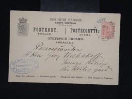 FINLANDE- Entier Postal En 1891 - à Voir - Lot P9531 - Finland