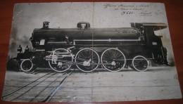Vecchia Foto - Treno - Locomotiva - Officina Meccanica E Navale - Già Miani E Silvestri - Napoli - S685 - 06.07.1927 - Trains