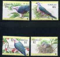 Tokelau MiNr. 210-13 postfrisch/ MNH Tauben (D4088