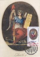 ST.PIERRE & MIQUELON Carte Maximum - Libert - Cartes-maximum