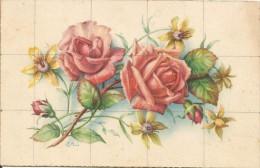 P1487 - POSTAL - BONITO RAMO DE ROSAS - Flores