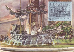 VATICAN Carte Maximum - Fontaine De La Galère - Maximum Cards