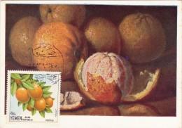 YEMEN REPUBLIQUE Carte Maximum - Oranges - Yémen