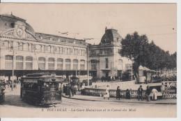31 - TOULOUSE / LA GARE MATABIAU ET LE CANAL DU MIDI - TRAMWAY - Toulouse