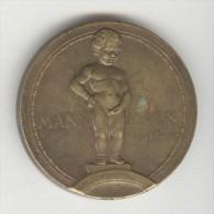Médaille Menneken Pis - Exposition Universelle De Bruxelles 1935 - Unclassified