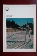 SKIING.  Biathlon Champion Yelizarov. OLD Postcard 1977 - Sports D'hiver