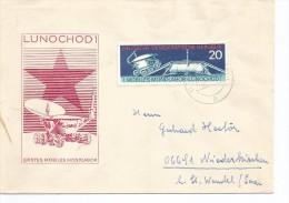 ALEMANIA DDR CC SELLO VEHICULO LUNAR ESPACIO LUNOCHOD 1 - Cartas