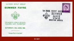 "S1381  G.B. 22.June.1968 (Cover) - ""1st HOOK SCOUT GROUP SUMMER FAYRE... SURBITON, SURREY"" - 1952-.... (Elizabeth II)"