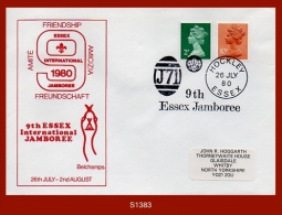 "S1383  G.B. 26.July.1980 (Cover) - ""9th Essex Jamboree... HOCKLEY ESSEX"" - 1952-.... (Elizabeth II)"