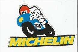 MICHELIN PUBLICITE BIBENDUM SUR MOTO (AUTOCOLLANT) - Stickers