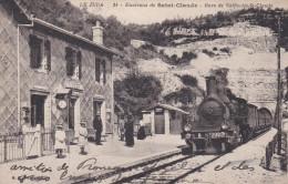 CPA De SAINT-CLAUDE  (39)  -  Animation - Train Arrivant En Gare De VALFIN Les ST-CLAUDE  //  TBE - Saint Claude