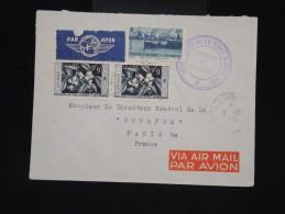 NOUVELLE CALEDONIE- Enveloppe De Nouméa Pour Paris En 1958 - Aff Plaisant - à Voir - Lot P9566 - Neukaledonien
