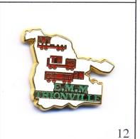 Pin´s Transport - SNCF / E.M.M ( Entretien Maintenance Matériel ) De Thionville (57). Est. Ballard. Zamac. T393-12 - Transport