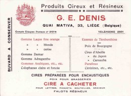 LIEGE DENIS QUAI MATIVA Cires D´ Abeilles Encaustiques  Produits Résineux Poix Pour Brasseries ... - Produits Ménagers