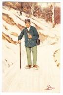 AK Motiv Künstlerkarte Pellegrini Winter Sport Pöstler Ges. 28.6.1911 Oberhofen Ed. Vouga & Cie - Illustrators & Photographers