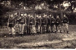 Carte Photo Et De L Armée De La Famille BLAIRON De La Rue Du Charbonnage En 1910 A Anderlues - Anderlues
