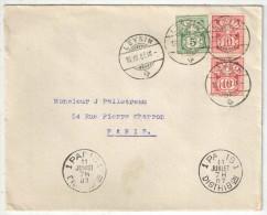 SUISSE - Lettre De Leysin Pour Paris - 1907 - 1882-1906 Armarios, Helvetia De Pie & UPU
