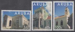 Aruba - Monumenten - Overheidsgebouw Uit 1898/Tweeverdiepingenhuis Uit 1929/Prot. Kerk Uit 1846 - MNH - NVPH 151-153 - Monumenten