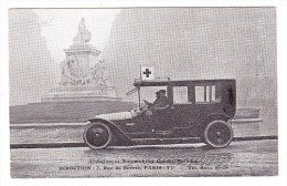 AK Motiv Rotes Kreuz - Ambulances Automobiles Garde-Malade Paris 6e. - Rotes Kreuz