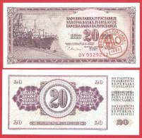 Yugoslavia 20 Dinara 1980 UNC Tito Death Ljubljana - Yougoslavie