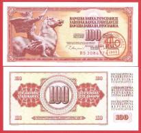 Yugoslavia 100 Dinara 1980 UNC Tito Death Ljubljana - Yougoslavie