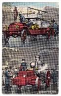 AK Motiv Feuerwehr - Fighting The Fire -Englische Feuerwehr - Sapeurs-Pompiers