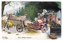 AK Motiv Künstlerkarte - Thiele Arthur - Eine Duftige Gegend - Ges. 6.3.1912 Berlin - Thiele, Arthur