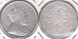 MALASIA STRAITS SETTLEMENTS DOLLAR 1908 PLATA SILVER Y - Malasia