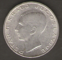 JUGOSLAVIA 20 DINARA 1938 AG SILVER - Jugoslavia