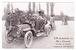 S.M. Alphonse XIII Roi D'Espagne Au Volant De Sa 12HP 4 Cylindres De Dion-Bouton - Familles Royales