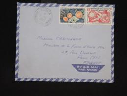 NOUVELLE CALEDONIE - Enveloppe De Nouméa Pour Paris ( Période 1950) - Aff. Plaisant - à Voir - Lot P9580 - Briefe U. Dokumente