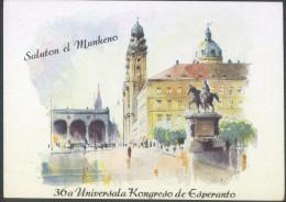 Esperanto Germany Munchen 36th Congress Postcard Bb150915 - Esperanto